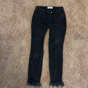 Free people fringe jeans